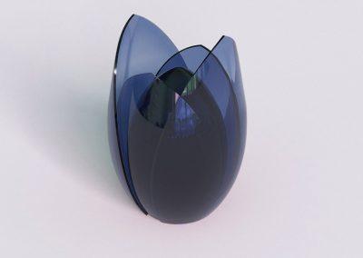 Umarmung IV blau